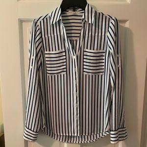 EXPRESS Striped Slim Fit Portofino, size XS